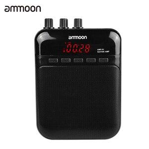 Ammoon AMP -01 5 Вт гитарный Amp рекордер, динамик TF слот для карты компактный портативный многофункциональный гитарный аксессуар