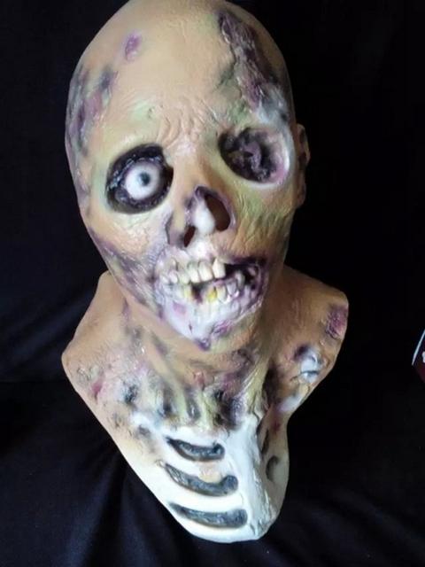 Nueva Máscara De Látex de Halloween máscaras de disfraces máscaras del horror del partido carnaval scary máscara capucha de látex realista diablo