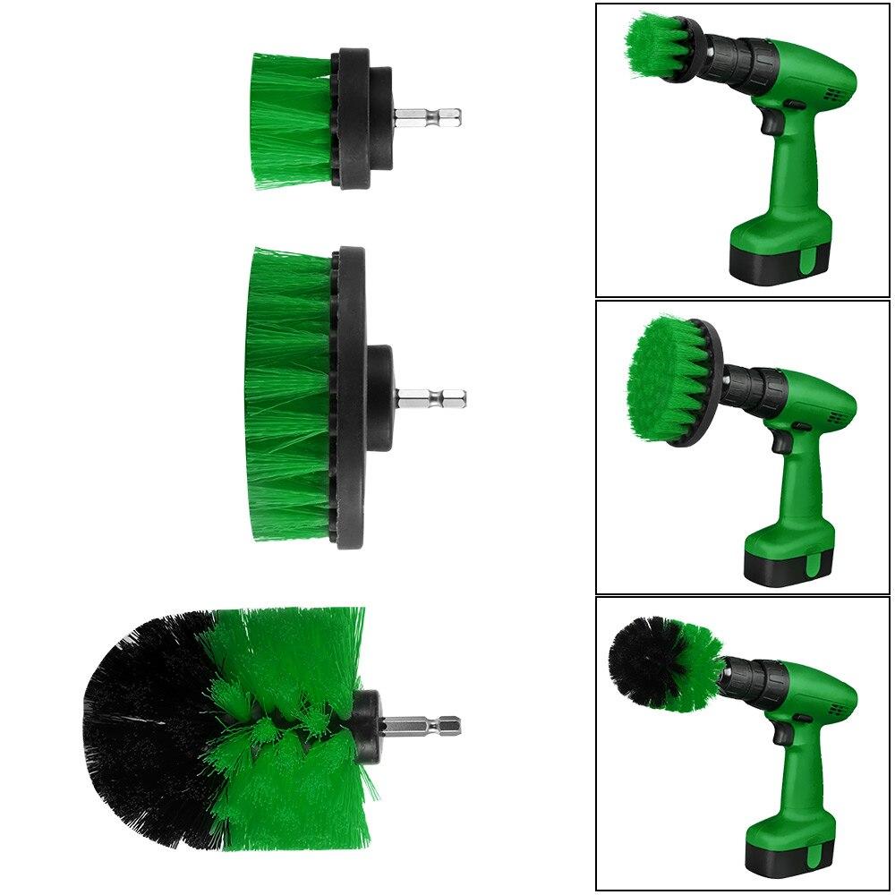 3pc Scrub Brush Scrub Drill Attachment kit Brush Power Scrubber Set Cleaning Kit