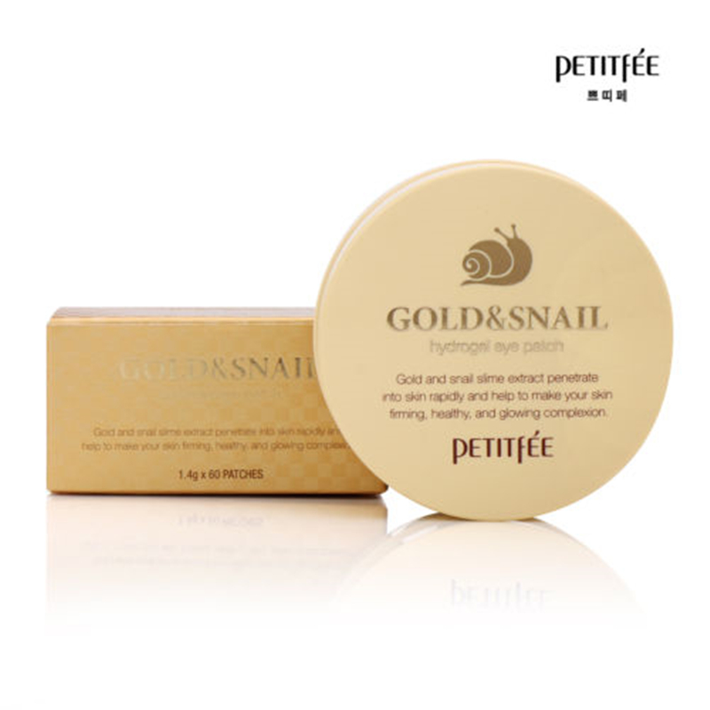 Image 2 - PETITFEE Gold Snail Eye Patch 60pcs Face Care Remove Black Finelines Moisturizing Firming Eye Bags Repair Eye Mask Sleep Masks-in Creams from Beauty & Health