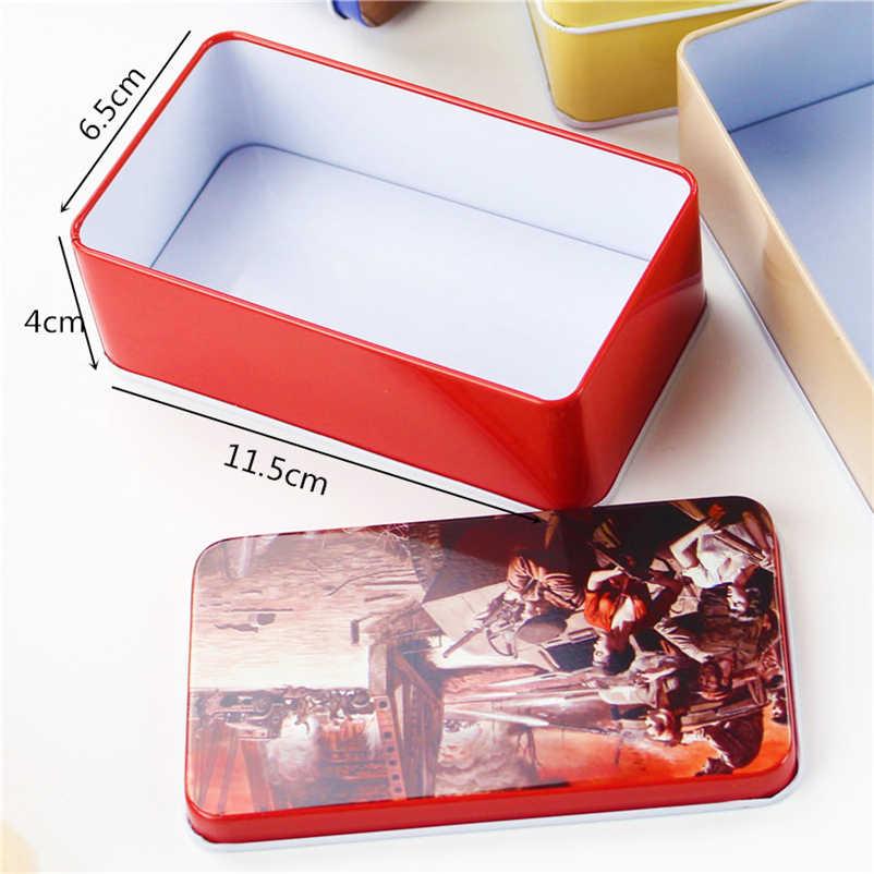 20 ピースパターンランダム!! ヴィンテージ漫画のブリキの箱 11.5*6.5*4 センチキャンディーピル Chutty ミニ収納家の装飾収集品ディスプレイ