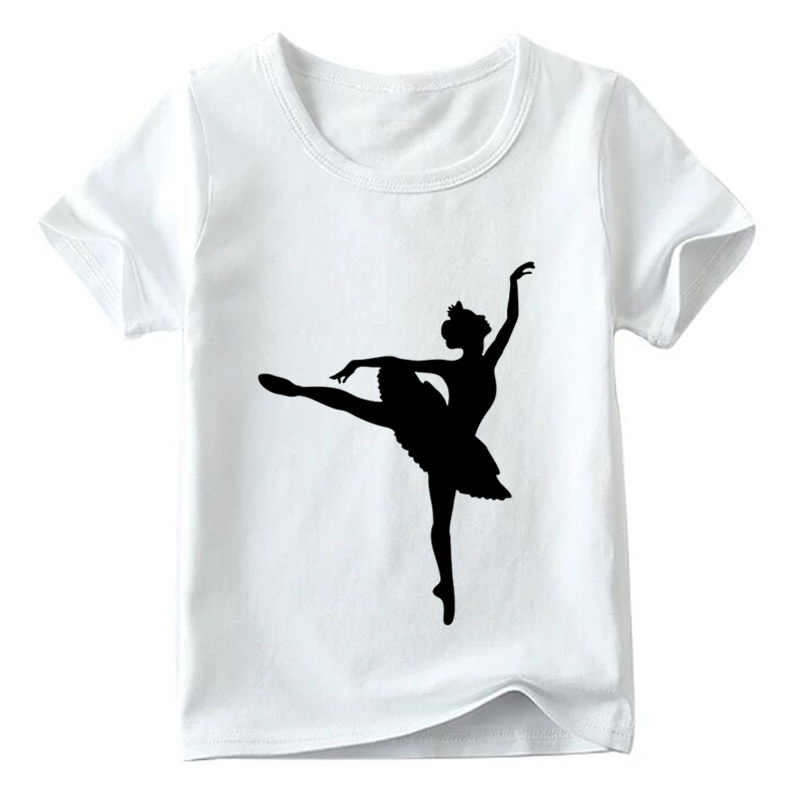 033248823 Children I Love Ballet Dancing Girl Design Funny T shirt Kids Summer ...