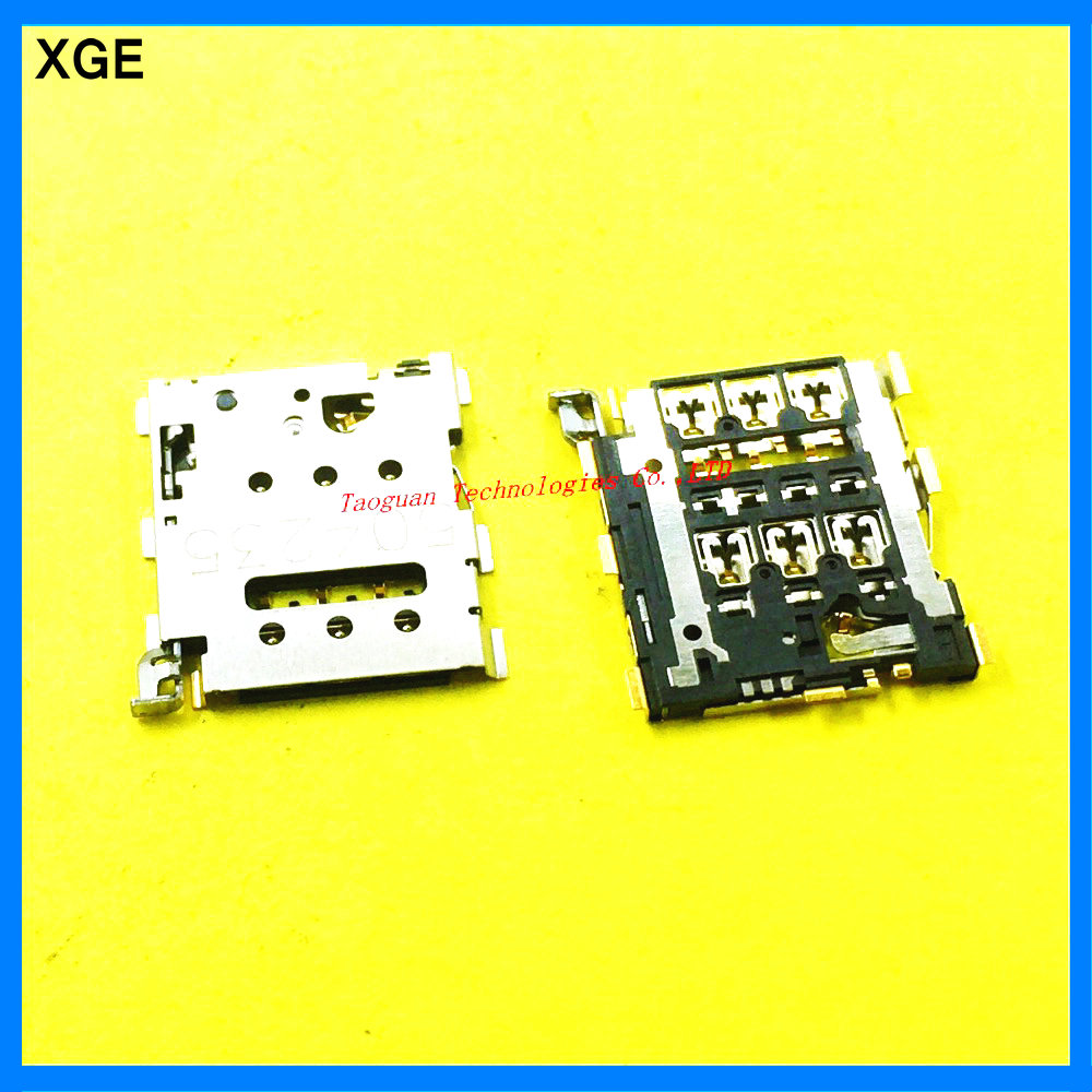 2pcs/lot XGE New SIM card Tray Holder Slot Socket reader
