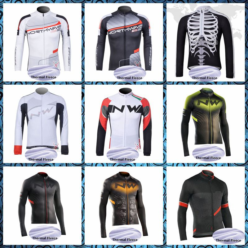 2019 NW Northwave Cycling Jersey Long Sleeve man Winter Thermal Fleece Bike Clothing Outdoor Sports U42512|Cycling Jerseys| |  - title=