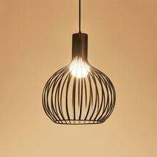 Industrial Led Chandelier Lighting Iron Vintage Birdcage Hanging Lights Chinese Retro Lamp for Living Room Dining Kitchen