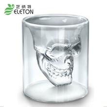 25ml Doomed Skull Glass Wine mug Beer Glasses Shot Crystal Skull Head Vodka Shot Wine Novelty Cup Cheap Horror Toy for Christmas