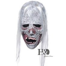 New 2016 Bloody Women's Costume Vampire Mask With Long White Hair Halloween Party 18.9*6.3 inch