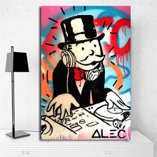 DJ Monopolies By Alec Canvas Painting Print Living Room Home Decoration Modern Wall Art Oil Poster Pictures