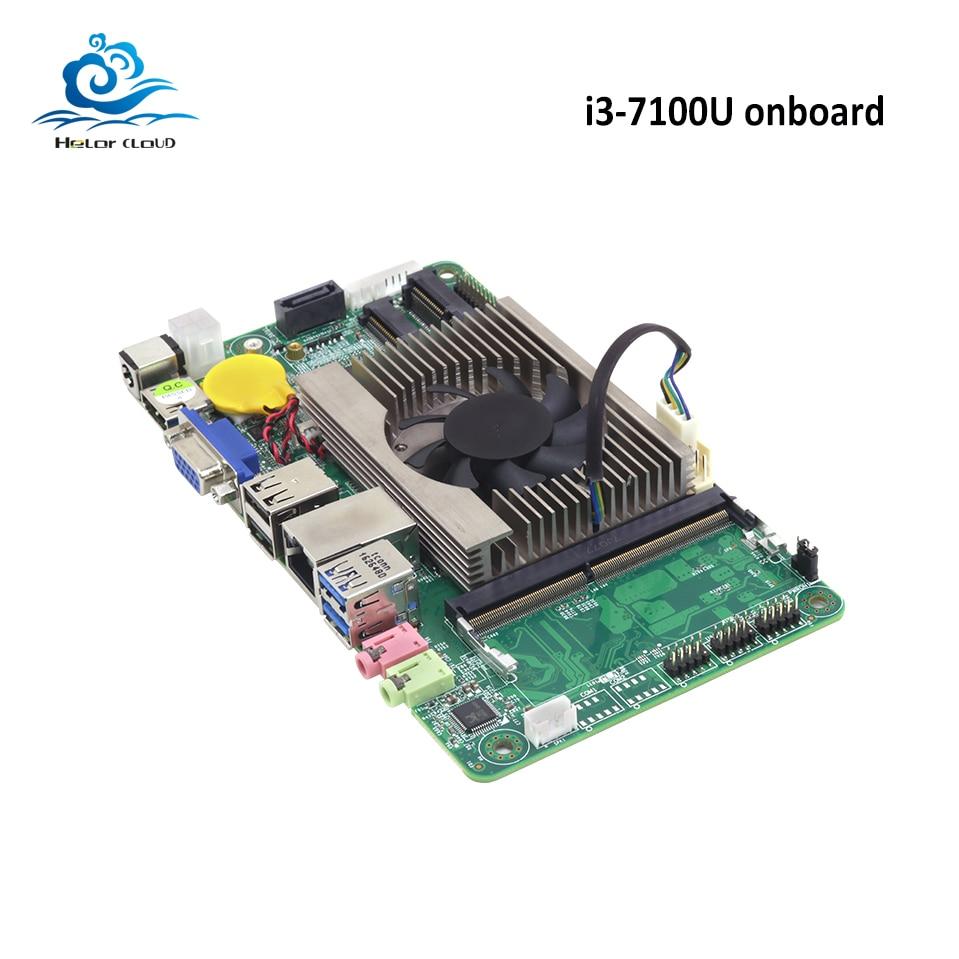 HLY Mainboard Motherboard DDR3 7100U i3 2.4 GHz HDMI VGA USB2.0 USB3.0 Mini ITX 1*1 * SATA mSATA slot Mini PCI-E NOVA Marca