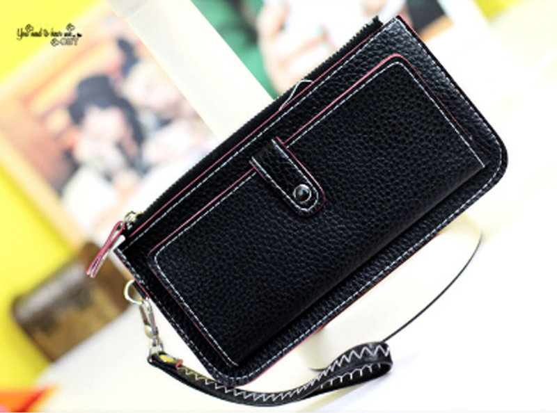 2017 Hot Fashion Women Wallets PU Leather Zipper Wallet multi-function Ladies Long Clutch Coin Purse Card Holder 8colors