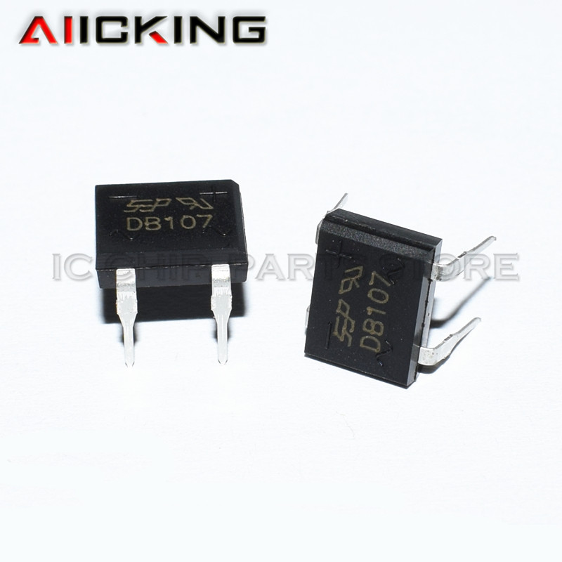 20PCS/lot DB107 DIP4 107 Diode Bridge Retifica 1A 1000V Single Phases Diode Rectifier Bridge Electronica Componentes