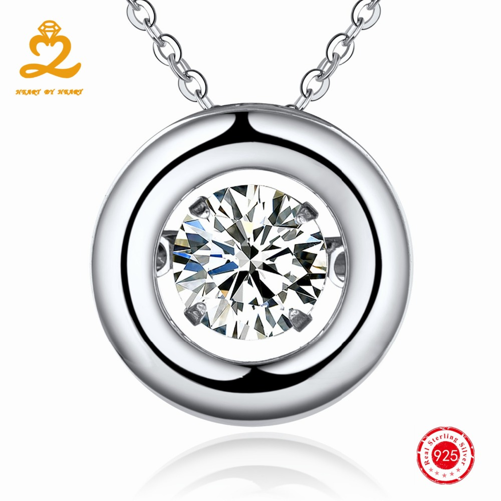 HEART BY HEART 925 Silver Necklaces Pendants Costume Jewelry for Women Pendant Female Trendy Dropship Necklace