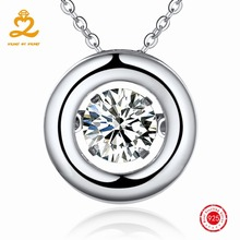 HEART BY HEART 925 Silver Necklaces & Pendants Costume Jewelry for Women Pendant Female Trendy Dropship Necklace