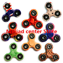 2017New hot 13 Style Tri Spinner Fidget Toy Plastic EDC Hand Spinner Anti Stress Reliever And
