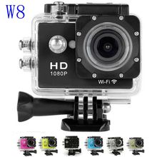 W8 Action Camera Sj4000 Wifi Full HD 1080P Diving 30M Waterproof Camera 170 Degree Action Cam Wifi Helmet Camera Deportiva