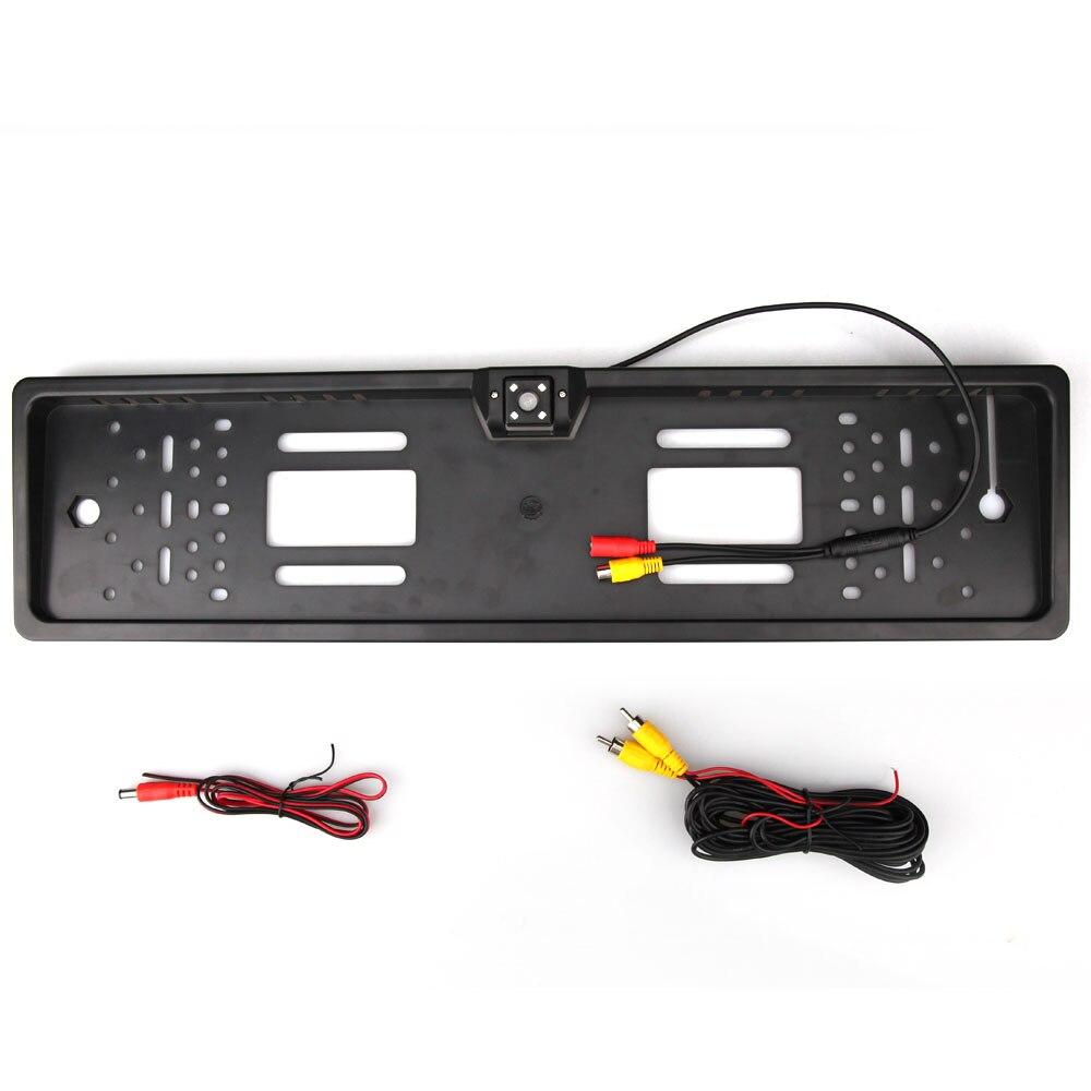 European Car License Plate Frame Reverse Rear View Backup Camera for ...