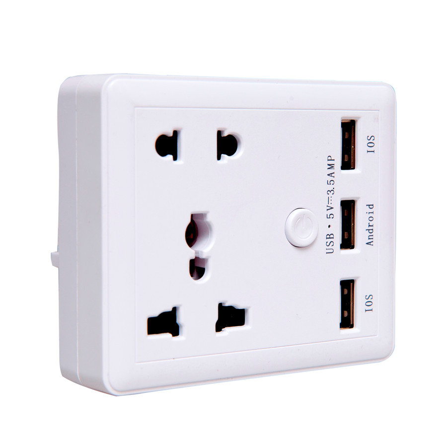 Universal Standard Wall Socket Plug Adapter White Power Socket Wall Outlet for Home charger