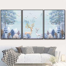 Abstract Scenery Tree Deer Wall Art Canvas Painting Nordic Posters And Prints Chinese Wall Pictures For Living Room Home Decor 41xdzs 151 159 160 162 4pcs chinese abstract scenery print art