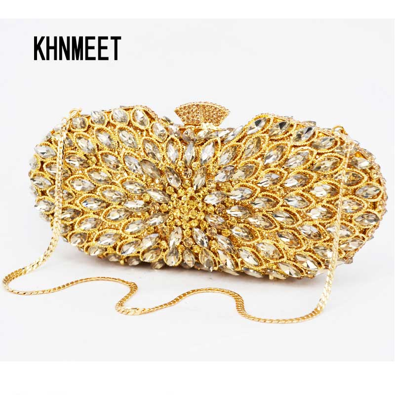 Brand Designer Golden Crystal Evening Bag Mini Women Party Handbags Luxury Women Diamond Wedding Bridal Sparkle Prom Bag sc308-a brand designer luxury crystal multicolor clutch bag women diamond evening bag golden oval wedding banquet purse handbags sc467