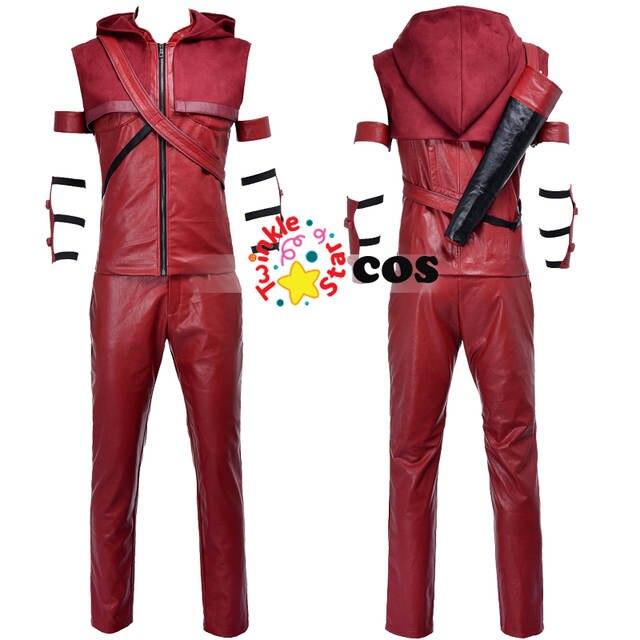 placeholder 2017 Superhero Green Arrow Cosplay trajes para los hombres de  cuero rojo flecha Roy Harper cosplay 2d50950be7a