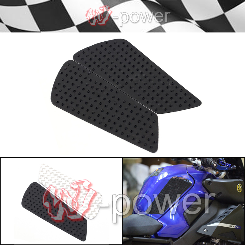 fite For YAMAHA MT 10 MT-10 FZ-10 2016-2017 Motorcycle Tank Traction Pad Side Gas <font><b>Knee</b></font> Grip Anti-slip sticker 3 Mt Black