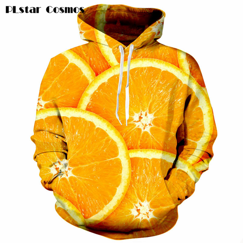 Delicious orange Print 3d Hoodie Women Men Harajuku style Sweatshirts fashion Jumper Outfits Hipster Sweats size S 5XL in Hoodies amp Sweatshirts from Men 39 s Clothing