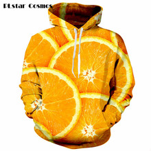 Delicious orange Print 3d Hoodie Women Men Harajuku style Sweatshirts fashion Jumper Outfits Hipster Sweats plus size S-5XL