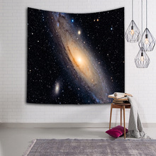 Galaxy Planet printed wall tapestry universe Starry sky hanging tapisserie psychedelic constellation tenture mural blanket