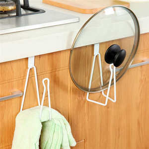 Image 2 - New listing High Quality Kitchen Storage Rack Cupboard Hanging Hook Hanger Chest Storage Organizer Holder Safe for kids