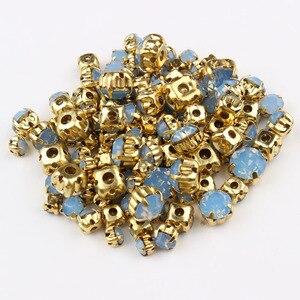 Смешанные размеры, пришитые стразами, 24 цвета и золотой коготь, стекло, камень, кристалл для украшения DIY, обувь и шляпы, украшение для багажа