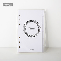 2018 Yiwi Never Original A6 Loose leaf Spiral Planner Filler Pages Weekly Monthly Grid Notebook Inside Pages