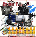 TOP Tattoo Kit 2 Gun Power Supply 40 Ink Needle Tip WS-K258 Free shipping