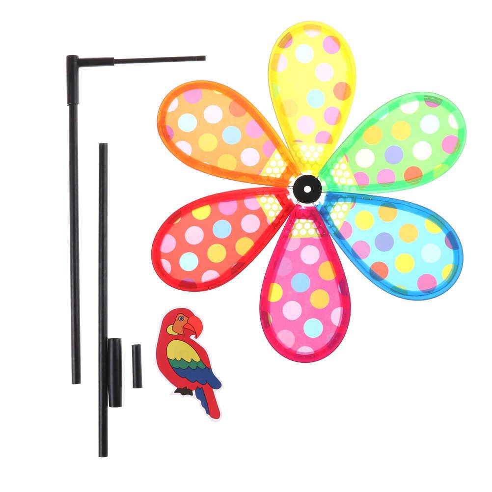 36 см ветер Spinner Whirligig садовая ветряная мельница для детей подарок многоцветный ветряная мельница в горошек для детей игрушечные лошадки
