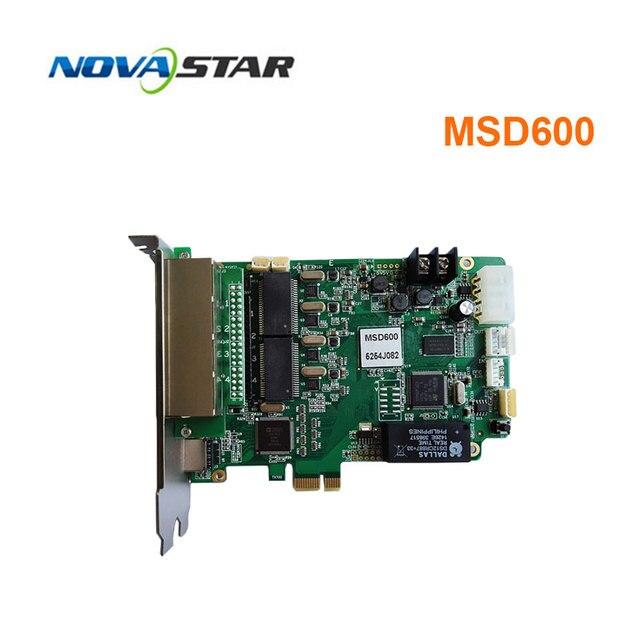 Novastar MSD600 מלא צבע led וידאו תצוגת שליחת כרטיס חיצוני & מקורה P2.5 P10 P20 led וידאו תצוגת סינכרוני בקר