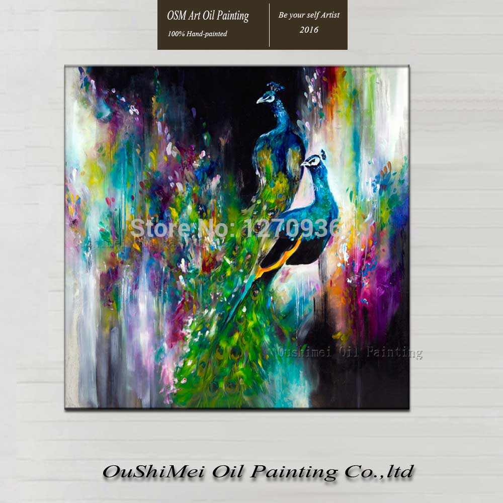 Best Price and High Quality Wholesale Hand Painted Beautiful Peacock Oil Painting on Canvas for Hotel or Home Decoration AnimalsBest Price and High Quality Wholesale Hand Painted Beautiful Peacock Oil Painting on Canvas for Hotel or Home Decoration Animals