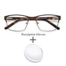 8f8bfc4786ff0 Gafas de Metal Bifocal progresiva fotocromático Anti azul claro lente  prescripción óptica gafas para los hombres
