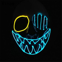 New Glowing Payday 2 Mask PVC The Heist Wolf/Hoxton cosplay halloween horror clown masquerade cosplay Carnaval Costume Kids Led