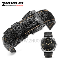 High quality Luxury Band 22mm 24mm 26mm Retro Watchband Watch Strap For PAM mens wrist watches band leather bracele