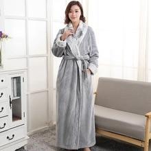 9 Noble colors plush robe unisex warm pajamas lover leisure wear couples  contrast color sleepwear plus 22052abb3