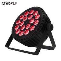 Djworld Heißer Verkauf Aluminium Legierung LED 18x12W RGBW Beleuchtung 4in1 LED Par Lichter DMX512 Disco Lichter Professionelle bühne DJ Equipm