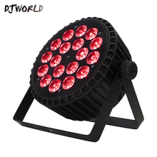 Djworld Hot Selling Aluminum Alloy LED 18x12W RGBW Lighting 4in1 LED Par Lights DMX512 Disco Lights Professional Stage DJ Equipm стоимость