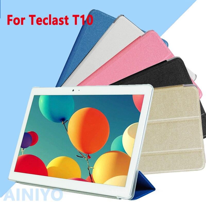 Ультра тонкий моды искусственная кожа Чехол для Teclast T10 10.1 Планшеты PC Защитная крышка + Экран Плёнки + стилус подарки
