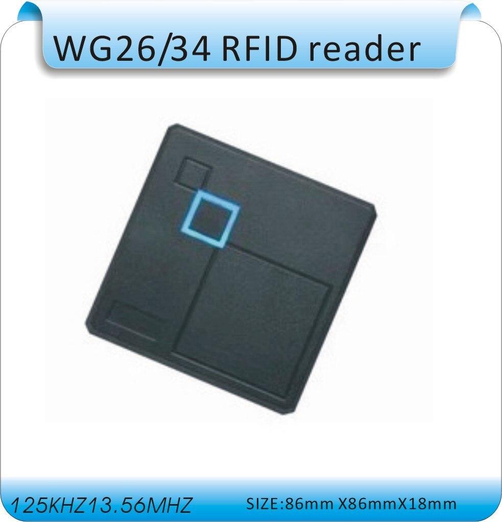 RFID 125KHZ WG26 Access Control card reader 86 box ID card mf card reader free shipping wholesale 125khz rifd smart card reader access control reader wg26 id rfid reader