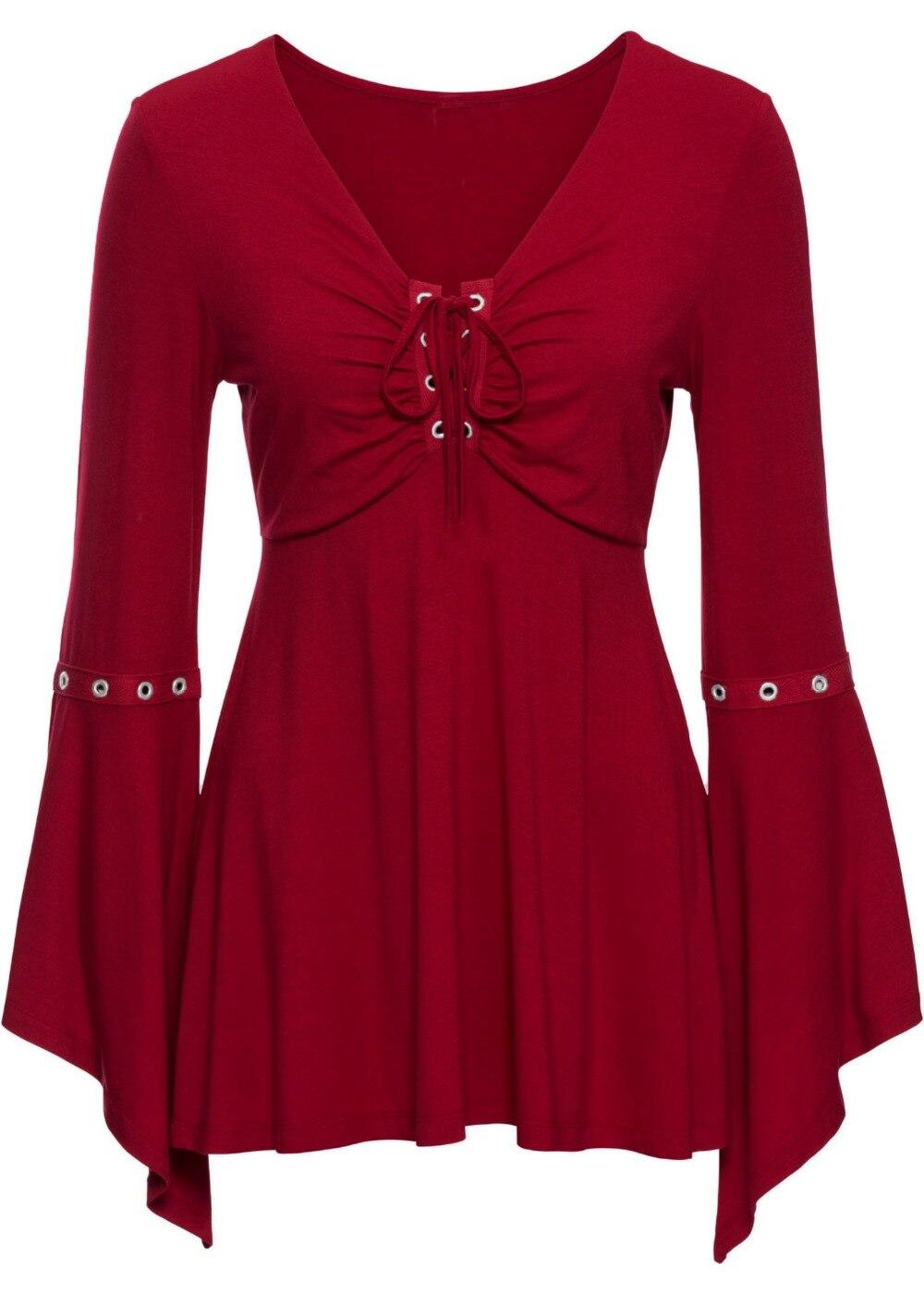 Vintage Damen Gothik Hemd BLUSE Top Spitzen-Rüsche Steampunk Viktorianisch