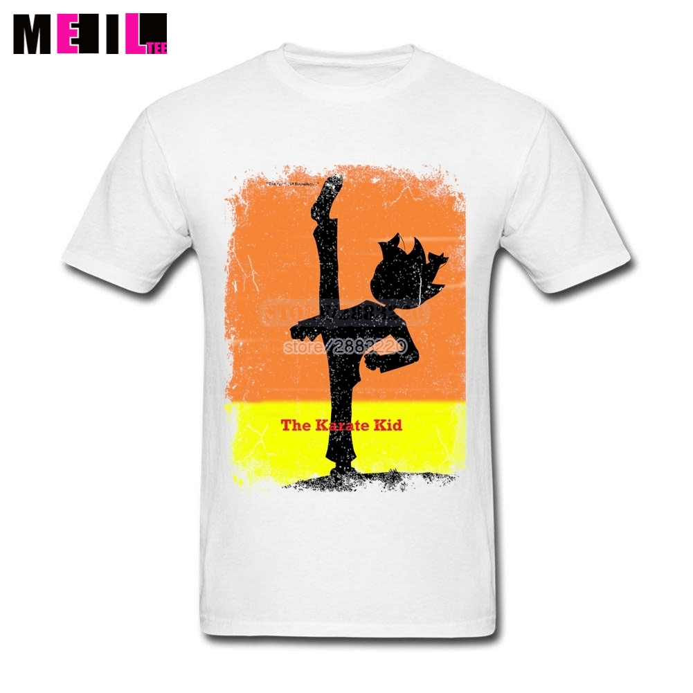 Poster design online - Plus Size 2017 Karate Kid Poster Personalized Couple T Shirt Short Sleeve Father S Day Custom Design T Shirt Online