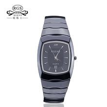 Роскошные мужские женские керамика кварцевые часы моды мужские и женские Пара часы квадратный водонепроницаемые женские мужские наручные часы Повседневная