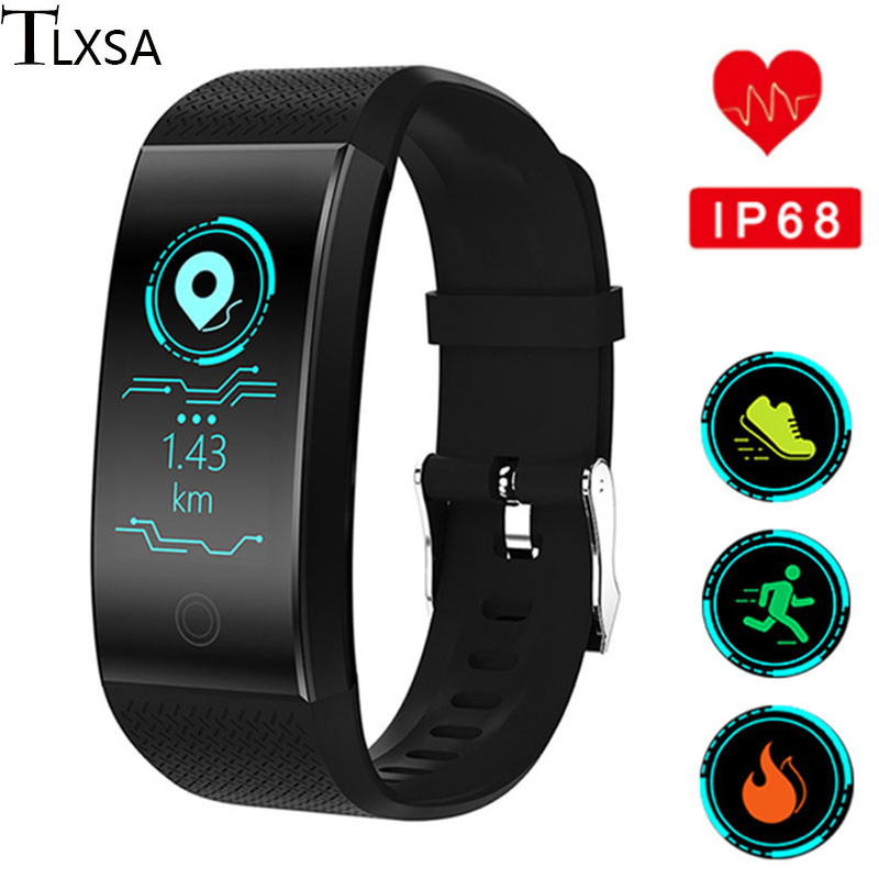 Smart Bracelet Heart Rate Monitor IP68 Waterproof Fitness Activity Tracker Smart Wristband Sports Watch Support IOS Android image