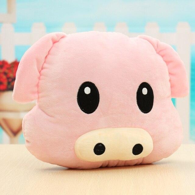 Bonito Piggy Porco Emoji Travesseiro Macio Almofada de Pelúcia Rosa Emoticon Dom Boneca de brinquedo de Pelúcia Boneca Segurar Travesseiro Brinquedo De Pelúcia de Aniversário presente