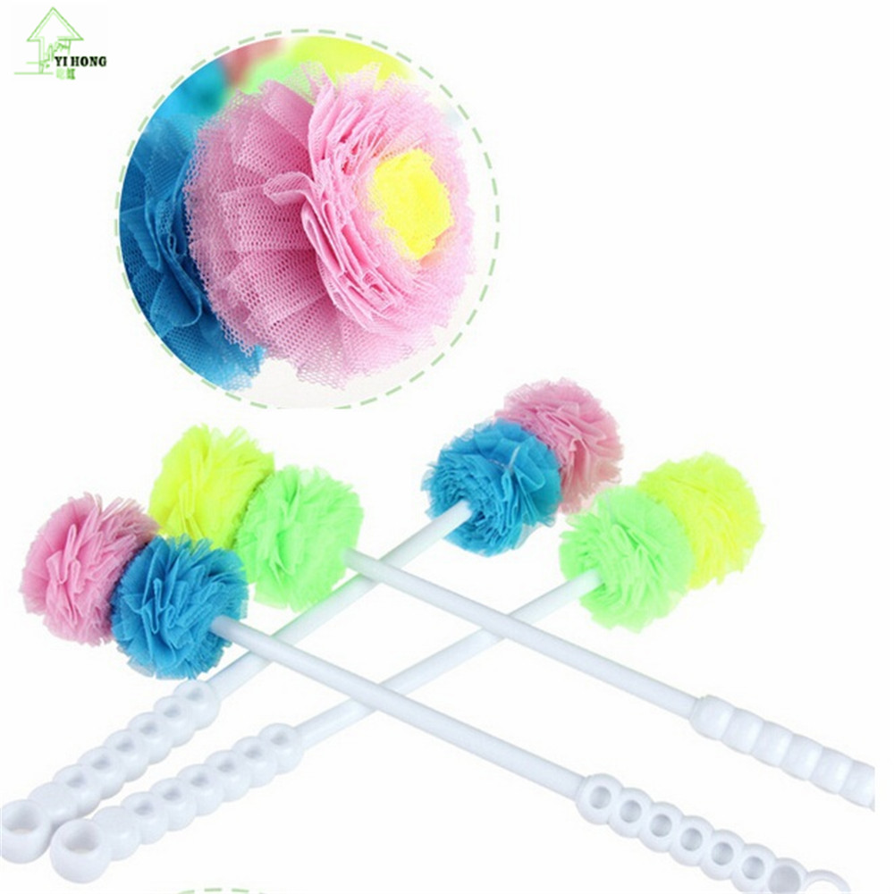 YIHONG Creative Antibacterial double ball long-handled cleaning brush novelty super households Cleaning products A1642c