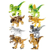 1/Set 39127 Jurassic Dinosaur tyrannosaurus Rex Building Block Indoraptor Velociraptor Triceratops Figures Bricks Toy remote control tyrannosaurus velociraptor giganotosaurus rugops rc walking dinosaur toy with shaking head light sounds